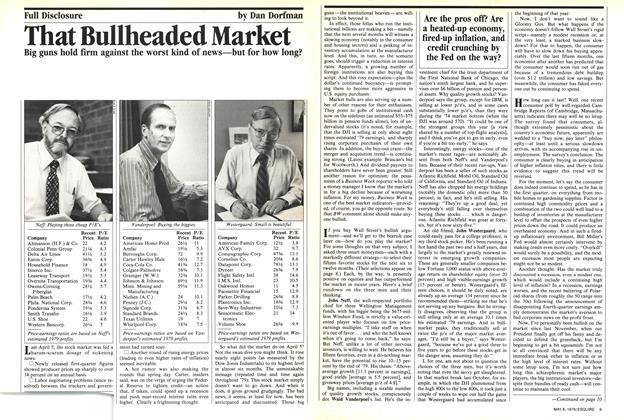 That Bullheaded Market
