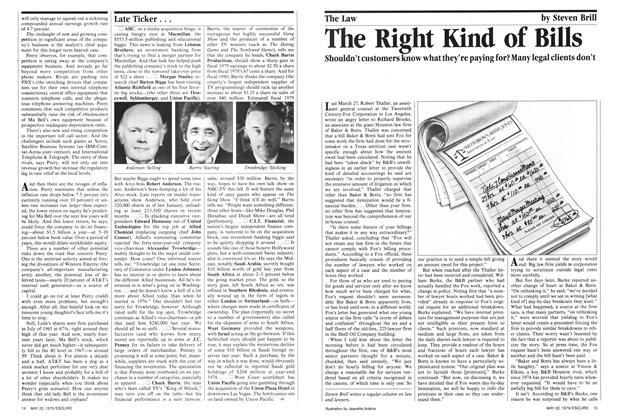 Article Preview: The Right Kind of Bills, May 22,  1979 | Esquire