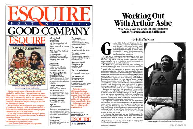 Article Preview: Working Out with Arthur Ashe, June 5,  1979 | Esquire