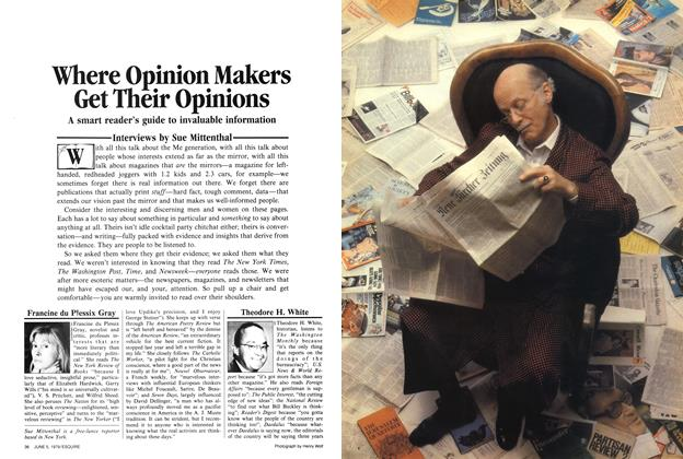 Article Preview: Where Opinion Makers Get Their Opinions, June 5,  1979 | Esquire
