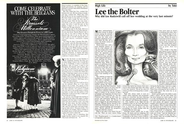 Article Preview: Lee the Bolter, June 19, 1979 1979 | Esquire
