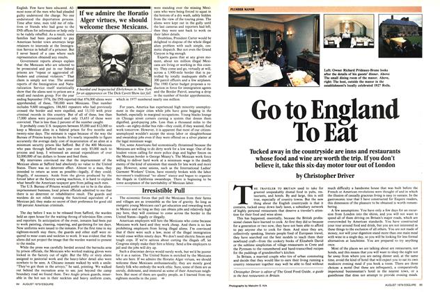 Go to England to Eat