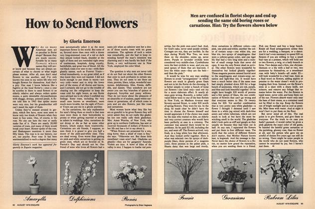 Article Preview: How to Send Flowers, August 1979 1979 | Esquire