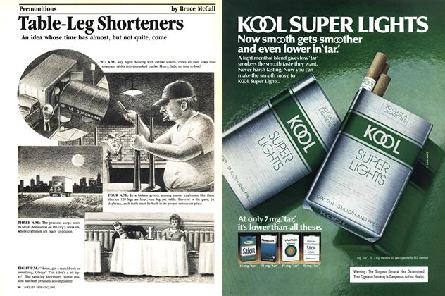 Article Preview: Table-leg Shorteners, August 1979 1979 | Esquire