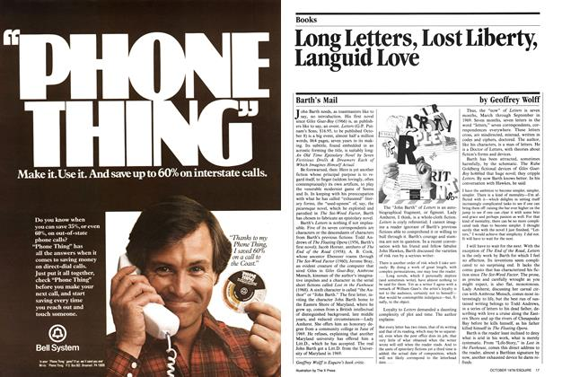 Article Preview: Long Letters, Lost Liberty, Languid Love, October 1979 | Esquire