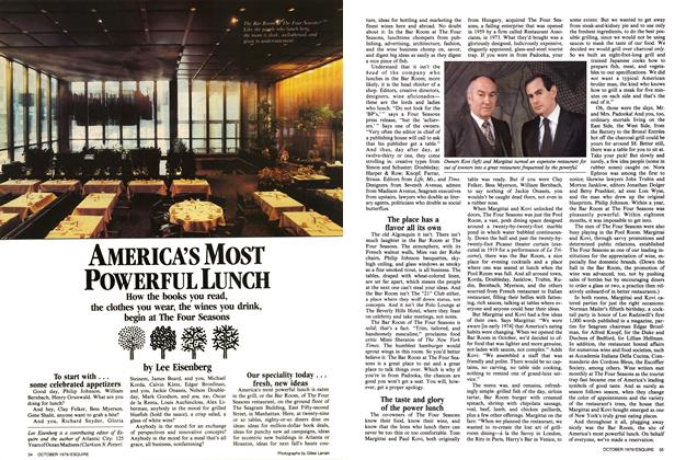 Article Preview: America's Most Powerful Lunch, October 1979 | Esquire