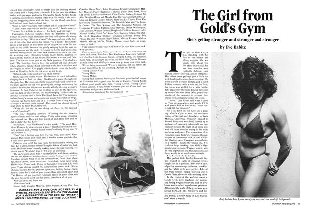 Article Preview: The Girl from Gold's Gym, OCTOBER 1979 1979 | Esquire