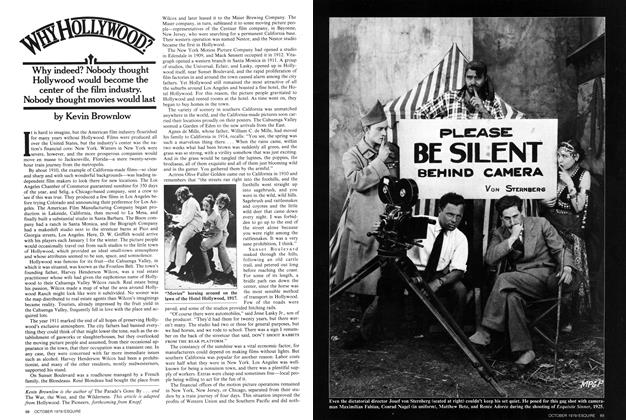 Article Preview: Why Hollywood?, OCTOBER 1979 1979 | Esquire