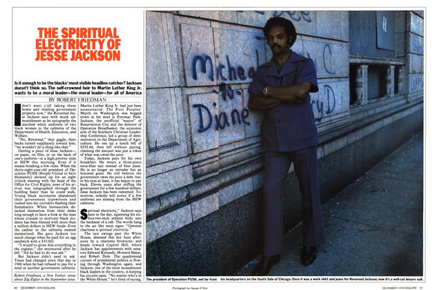 Article Preview: The Spiritual Electricity of Jesse Jackson, DECEMBER 1979 1979 | Esquire