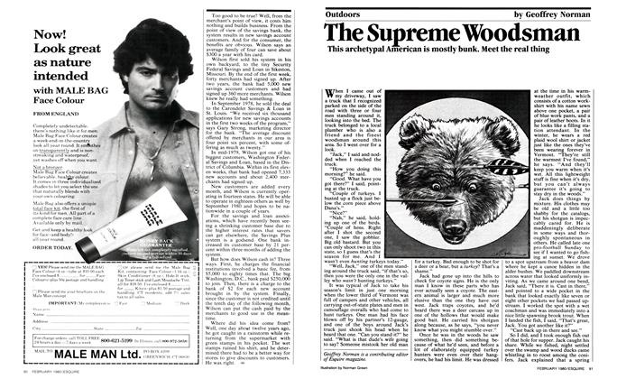 Article Preview: The Supreme Woodsman, FEBRUARY 1980 1980 | Esquire