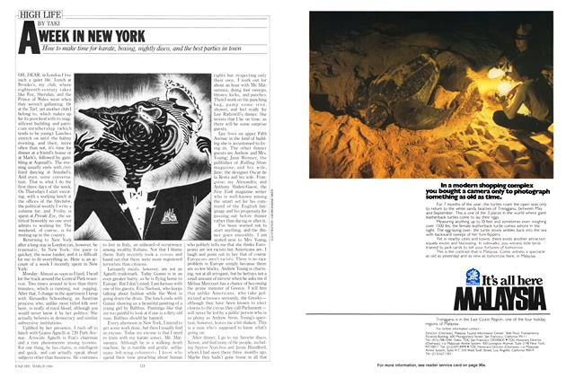 Article Preview: A Week in New York, MARCH l980 1980 | Esquire