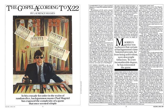 Article Preview: The Gospel According to X-22, April 1980 | Esquire