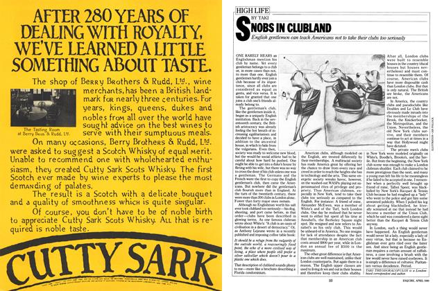 Article Preview: SNOBS IN CLUBLAND, APRIL 1980 1980 | Esquire