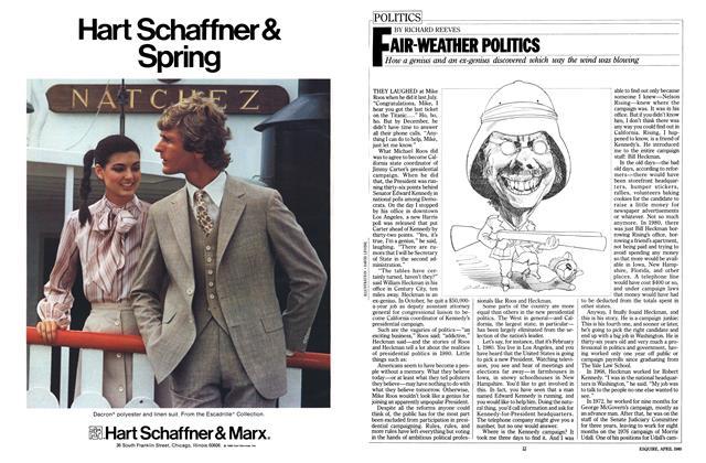 Article Preview: FAIR-WEATHER POLITICS, APRIL 1980 1980 | Esquire