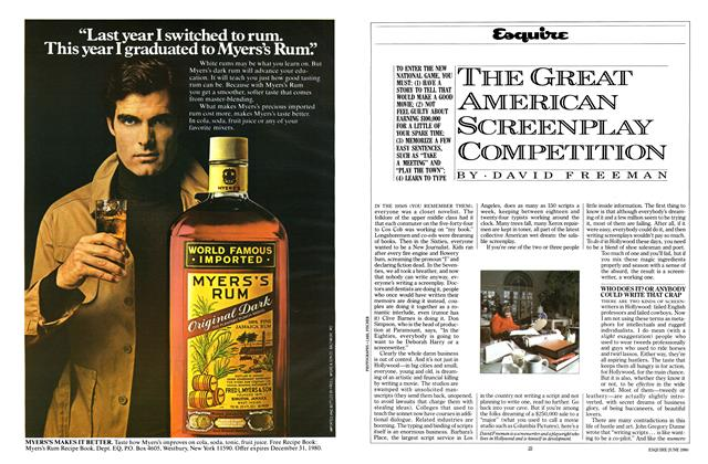 Article Preview: The Great American Screenplay Competition, June 1980 | Esquire