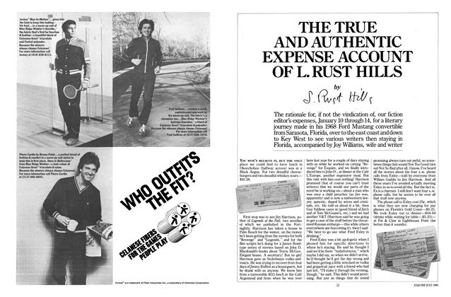 Article Preview: The True and Authentic Expense Account of L. Rust Hills, July 1980 | Esquire