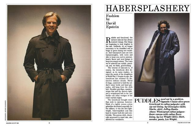 Article Preview: Habersplashery, AUGUST 1980 1980 | Esquire