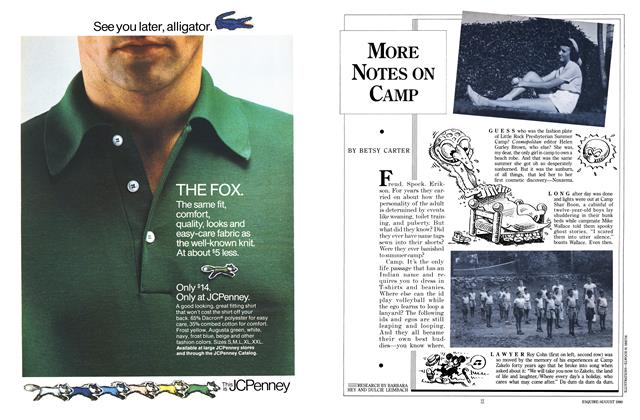 Article Preview: More Notes on Camp, AUGUST 1980 1980 | Esquire