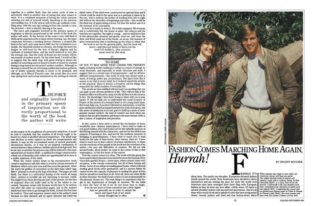 Article Preview: Fashion Comes Marching Home Again, Hurrah!, SEPTEMBER 1980 1980 | Esquire
