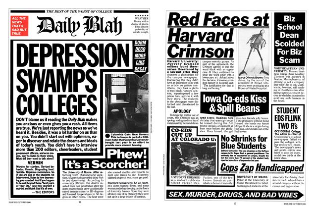 Article Preview: DEPRESSION AWAMPS COLLEGES, October 1980 | Esquire