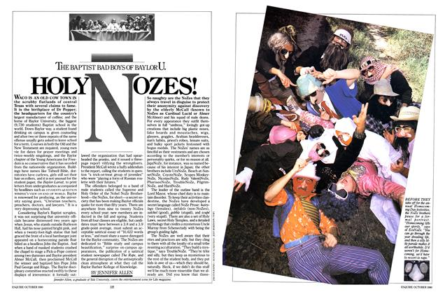 Article Preview: THE BAPTIST BAD BOYS OF BAYLOR U. HOLY NOZES, OCTOBER 1980 1980 | Esquire