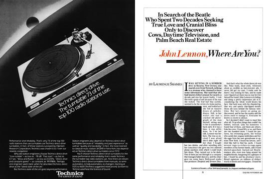 John Lennon, Where Are You? - November | Esquire