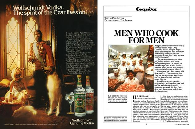 Article Preview: Men Who Cook for Men, NOVEMBER 1980 1980 | Esquire