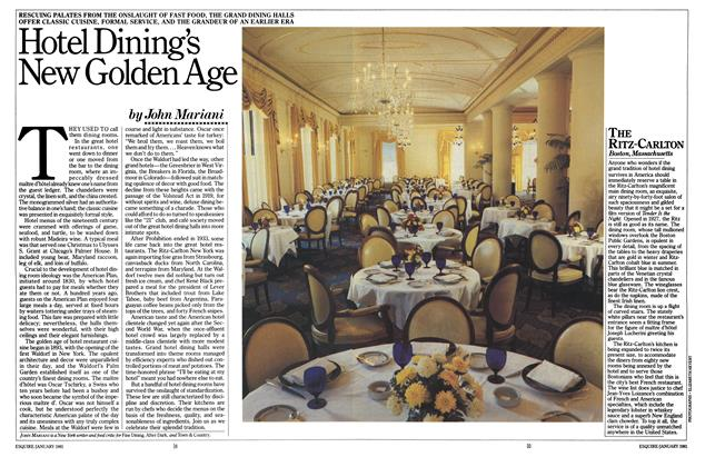 Article Preview: Hotel Dining's New Golden Age, JANUARY 1981 1981 | Esquire