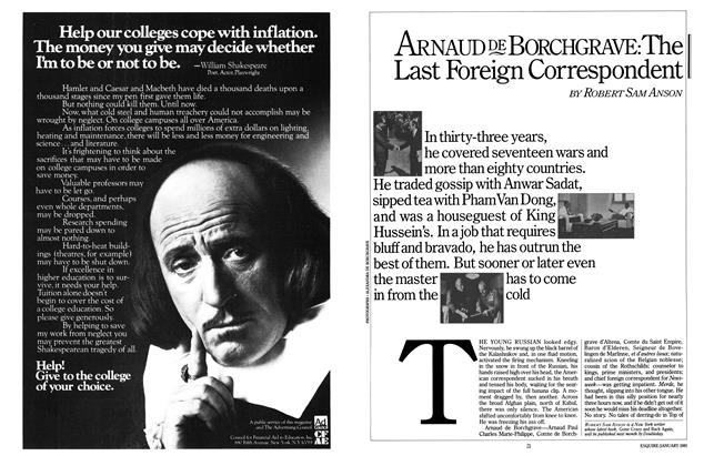 Article Preview: Arnaud de Borchgrave: The Last Foreign Correspondent, January 1981 | Esquire