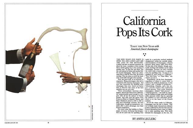 California Pops Its Cork