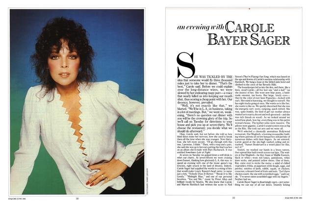 Article Preview: An Evening with Carole Bayer Sager, JUNE 1981 1981 | Esquire
