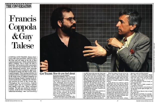 Francis Coppola & Gay Talese