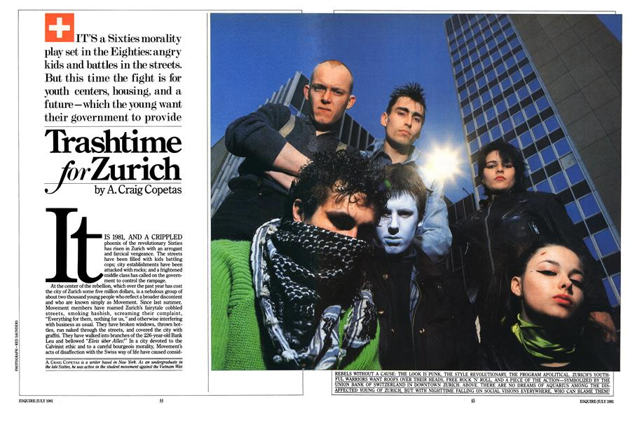 Trashtime for Zurich | Esquire | JULY 1981