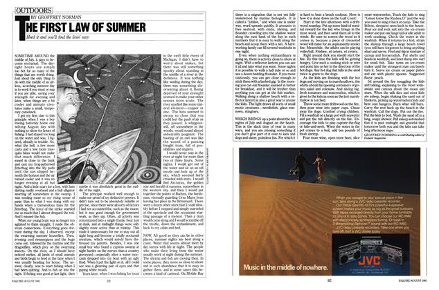 Article Preview: The First Law of Summer, August 1981 | Esquire