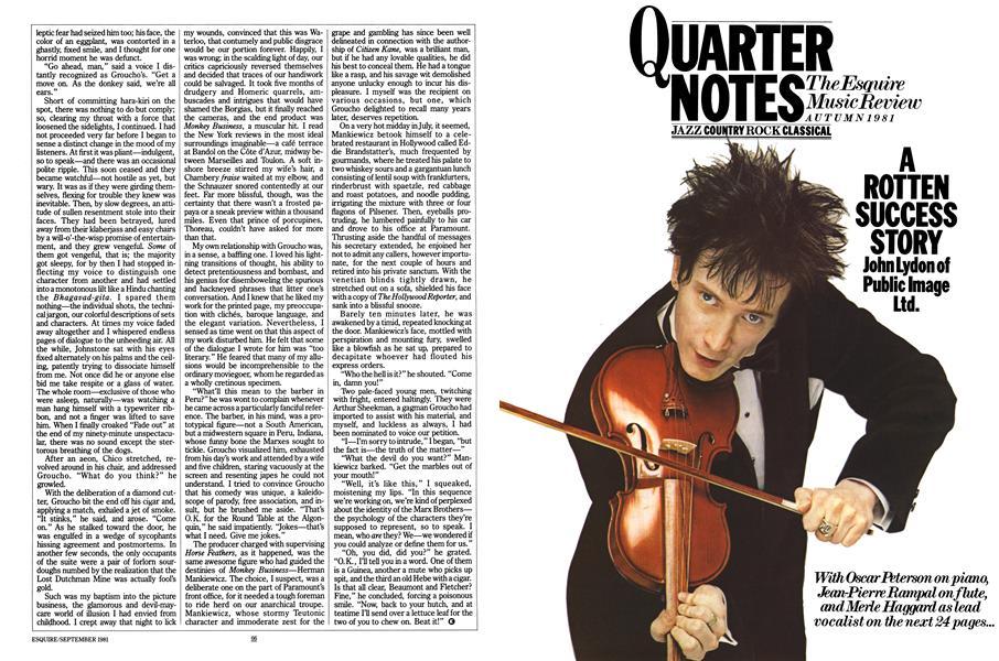 Quarter Notes: the Esquire Music Review   Esquire   SEPTEMBER 1981