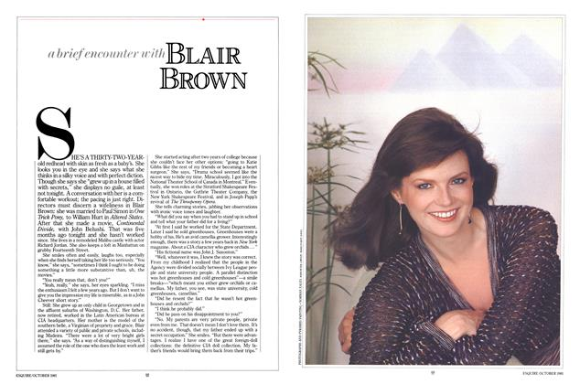 Article Preview: A Brief Encounter with Blair Brown, OCTOBER 1981 1981 | Esquire