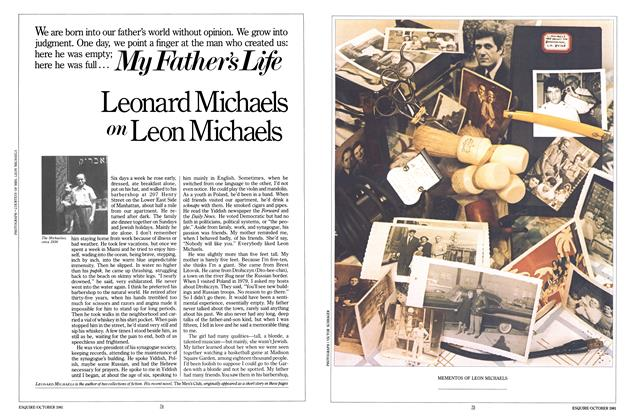 Article Preview: My Father's Life, OCTOBER 1981 1981 | Esquire