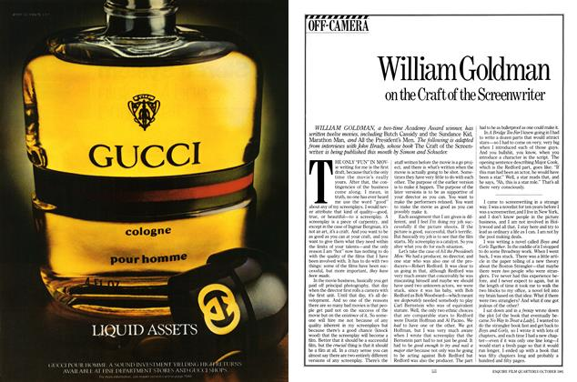 Article Preview: William Goldman on the Craft of the Screenwriter, October 1981 | Esquire