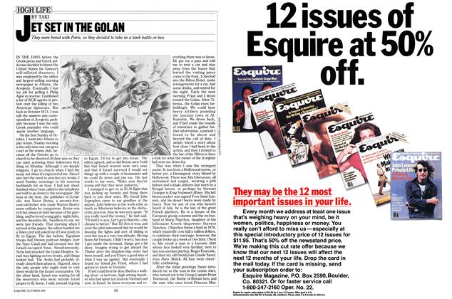 Article Preview: Jet Set in the Golan, October 1981 | Esquire