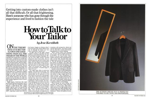 How to Talk to Your Tailor