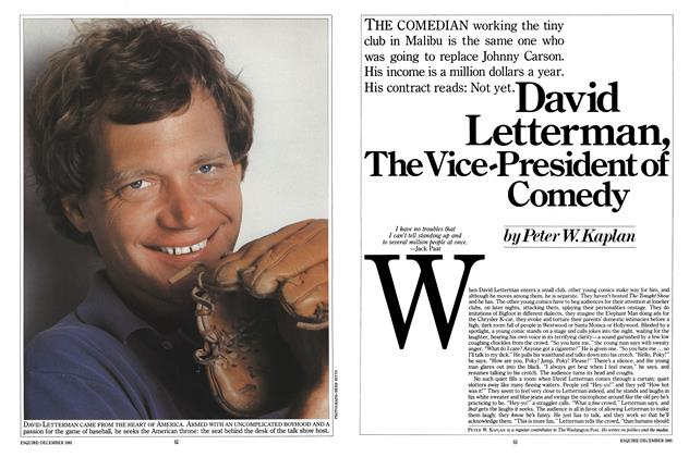 David Letterman, the Vice-President of Comedy