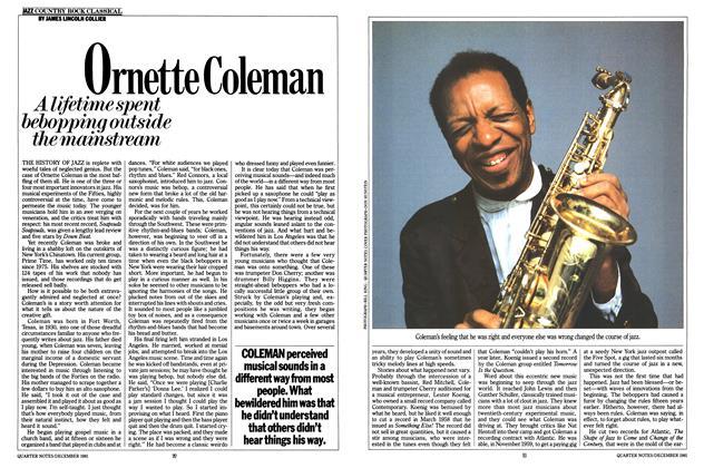 Article Preview: Ornette Coleman, December 1981 | Esquire