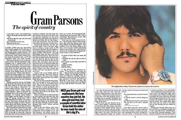 Article Preview: Gram Parsons, December 1981 | Esquire