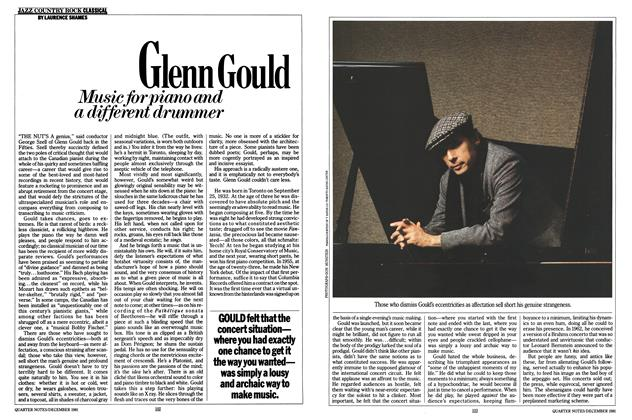Article Preview: Glenn Gould, December 1981 | Esquire