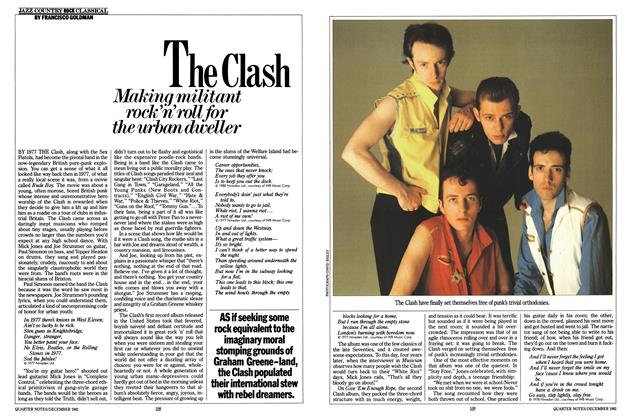 Article Preview: The Clash, DECEMBER 1981 1981 | Esquire