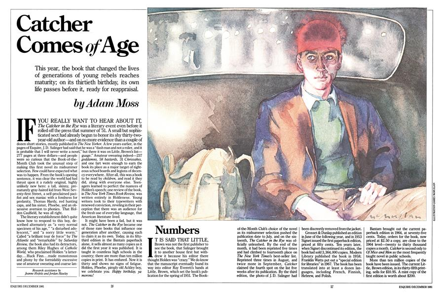 Catcher Comes of Age | Esquire | DECEMBER 1981