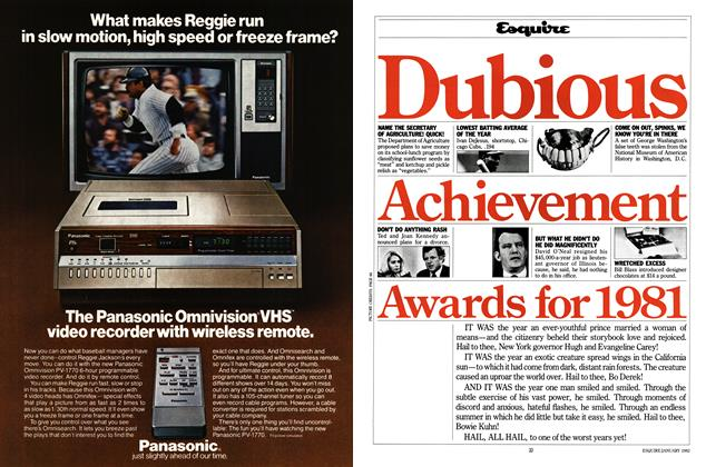 Article Preview: Dubious Achievement Awards for 1981, January 1982 | Esquire