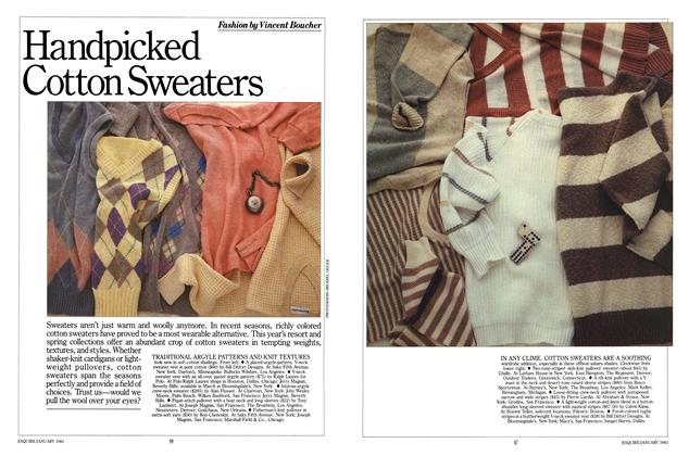Article Preview: Handpicked Cotton Sweaters, JANUARY 1982 1982 | Esquire