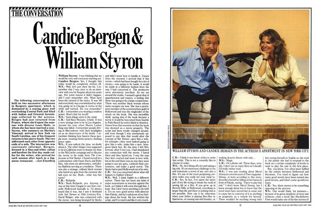Article Preview: Candice Bergen & William Styron, January 1982 | Esquire