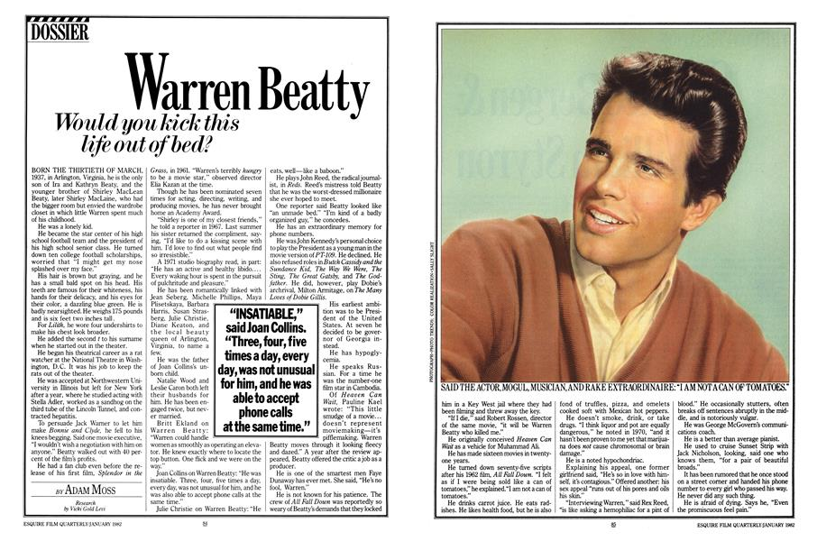 Warren Beatty Would You Kick This Life Out of Bed?   Esquire
